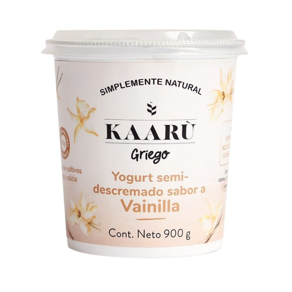 Yogurt Griego - Kaaru -  Vainilla - 900g